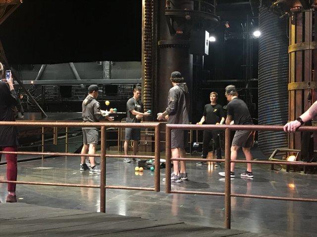 PHOTOS: Vegas Golden Knights work out with Cirque du Soleil