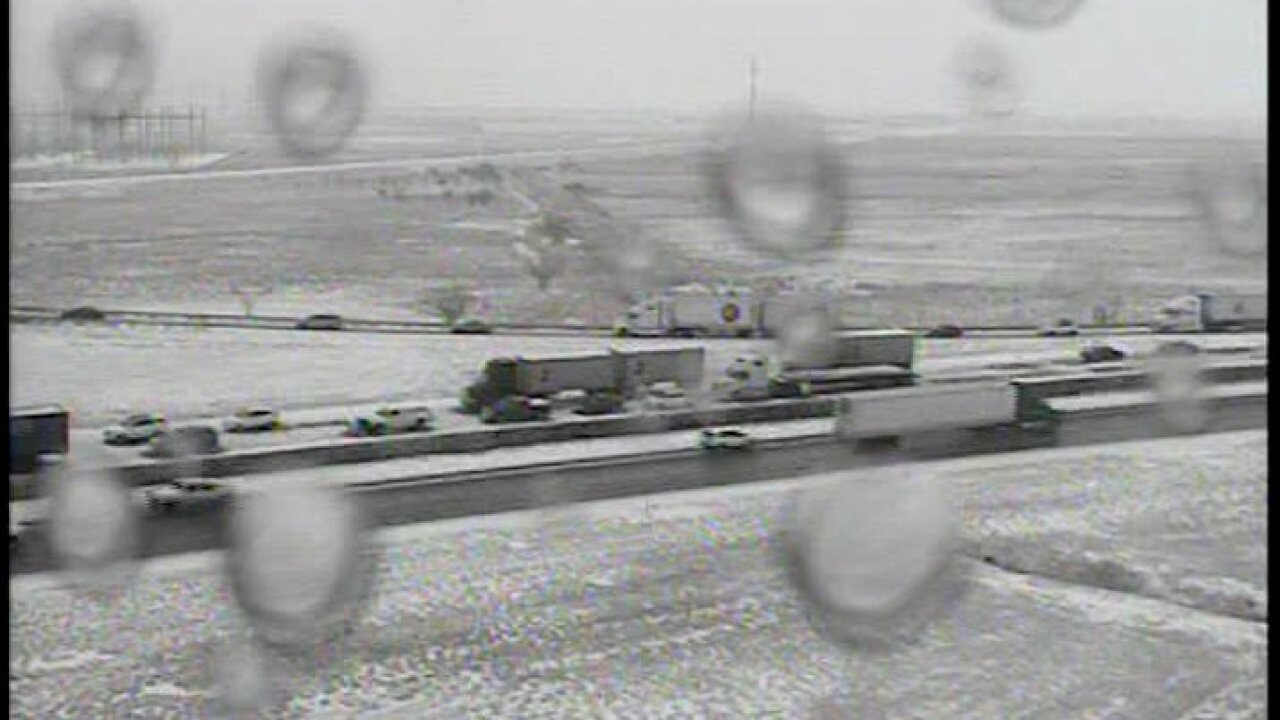 Southbound I-15 closed in South Willard due to 'several semi-involved crashes'