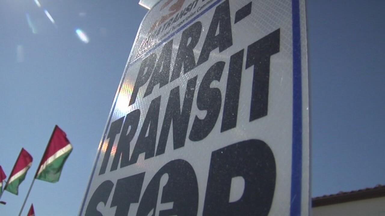 Paransit bus stop