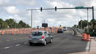 The Roosevelt bridge in Stuart now features 4 lanes, two in each direction.