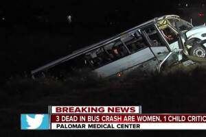 At least 3 dead in bus crash on I-15
