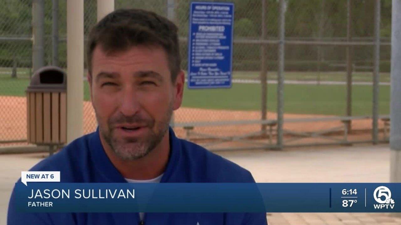 Jason Sullivan, father of Martin County Little League baseball player
