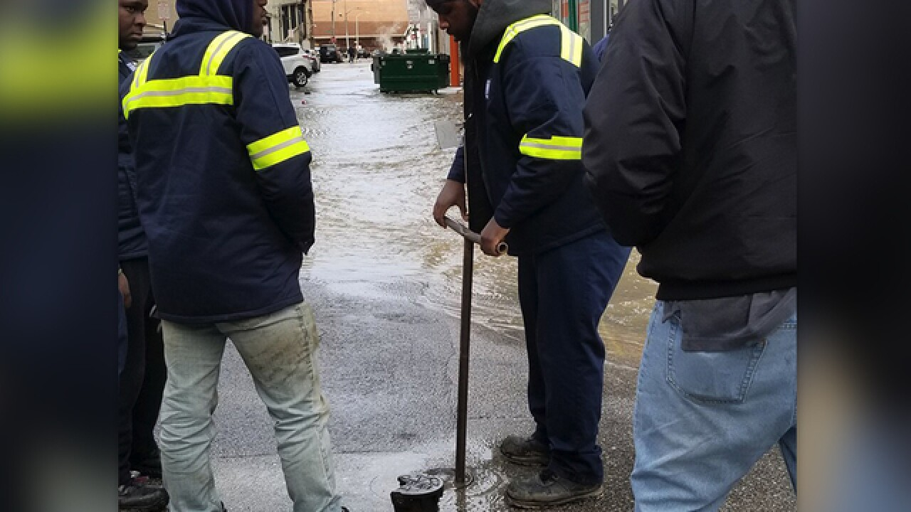 Water main break closes several city streets