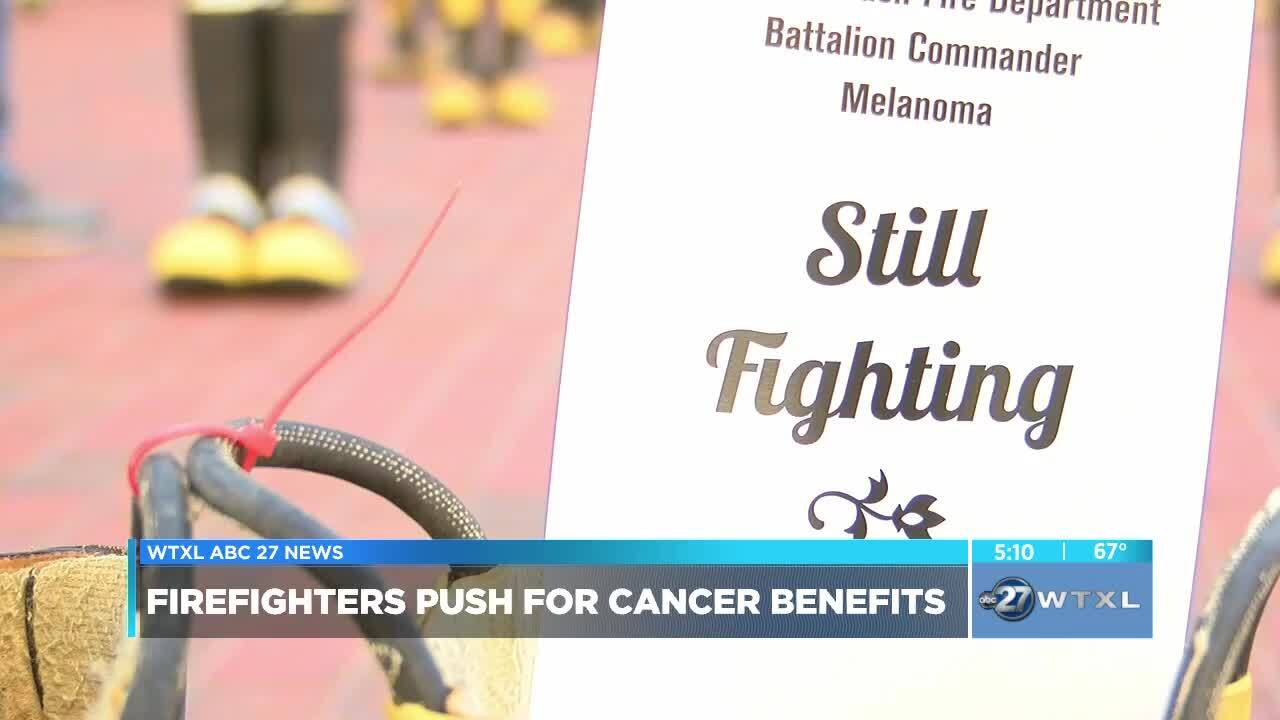 Boots at the Capitol: Firefighters push for cancer benefits