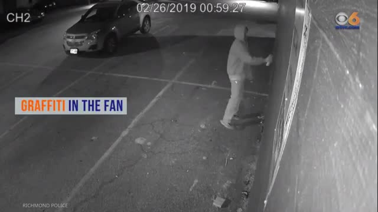 Police hope video helps catch Richmond vandal