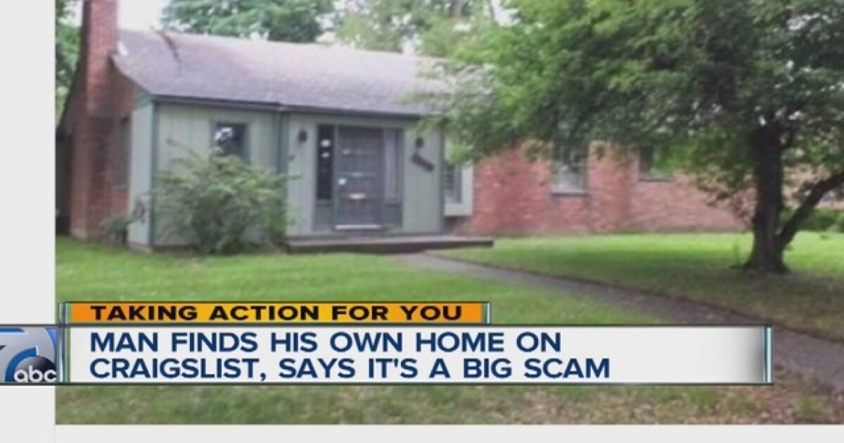 Man finds home he owns for sale on Craigslist