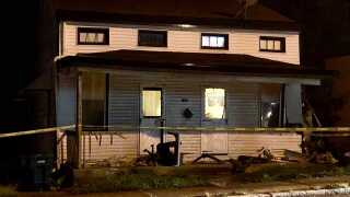 A vehicle crashed into this home in South Fairmount shortly after midnight Friday morning.