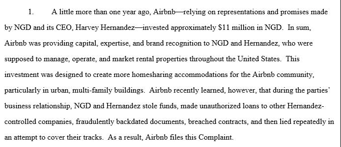Airbnb v. NGD and Hernandez