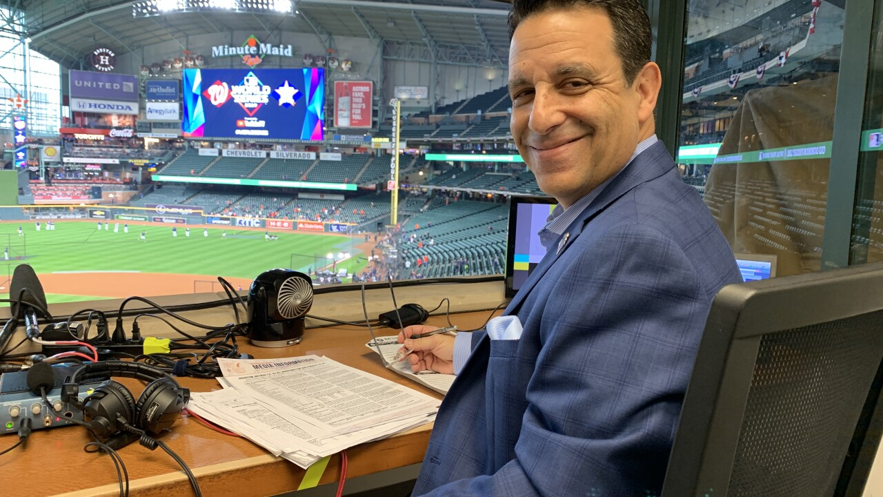 Charlie Slowes, former Tides broadcaster, calls game 7 as radio voice of Washington Nationals