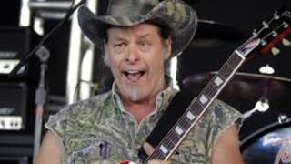 Ted Nugent playing concert at DTE Energy Music Theatre on Aug. 15