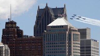 Blue Angels Detroit flyover