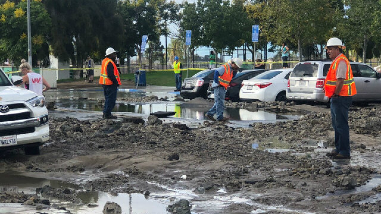 Water main break floods North Park streets