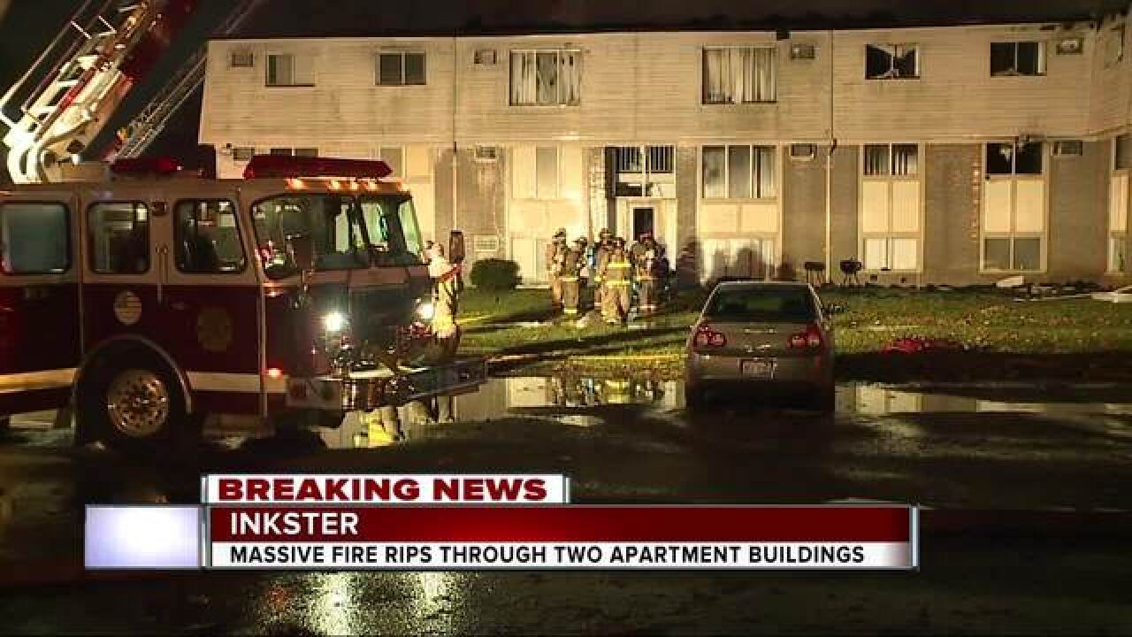 Fire destroys two Inkster apartment buildings