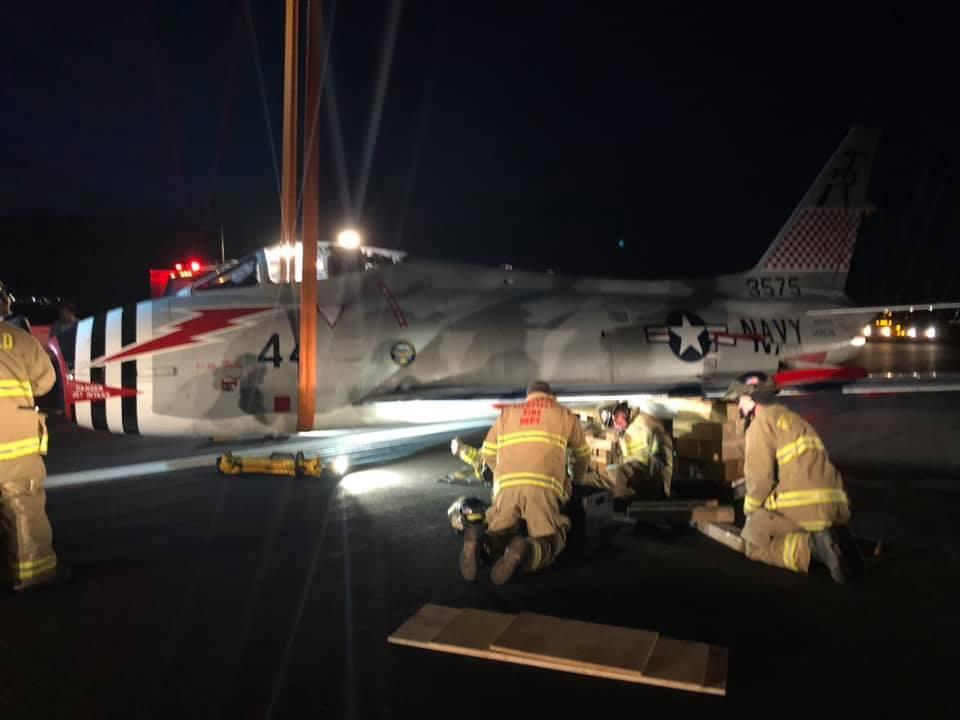 Photos: Historic plane belly lands at Richfield MunicipalAirport