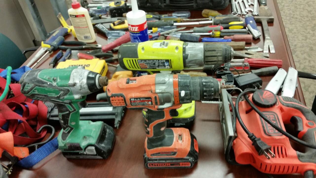 Homeless man accused of stealing work tools