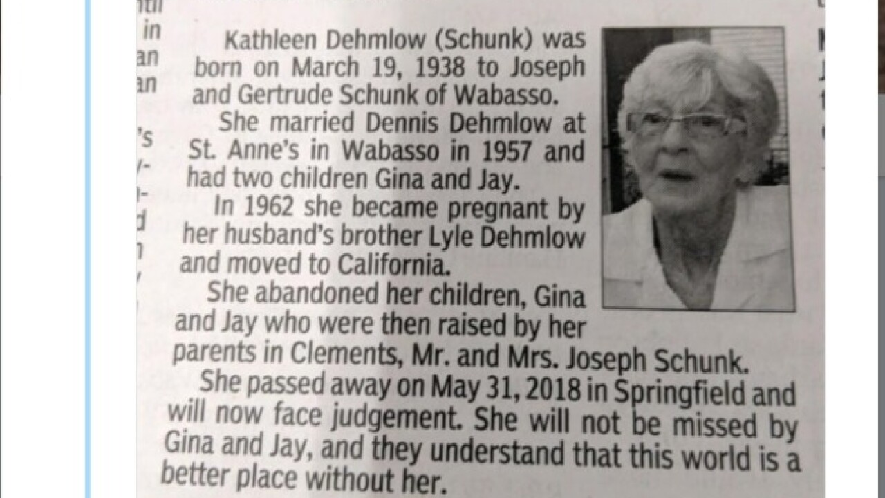 Minnesota woman's obituary says 'World is a better place without her'