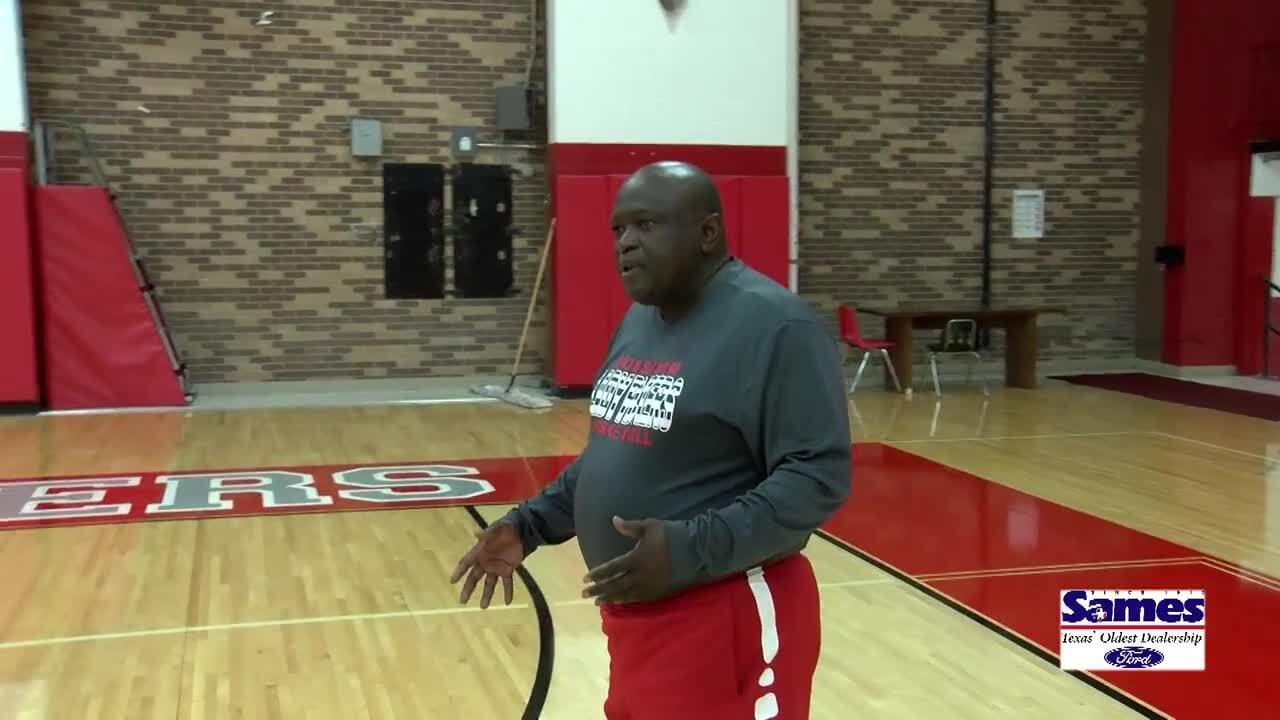 Robstown girls basketball coach Roy Williams