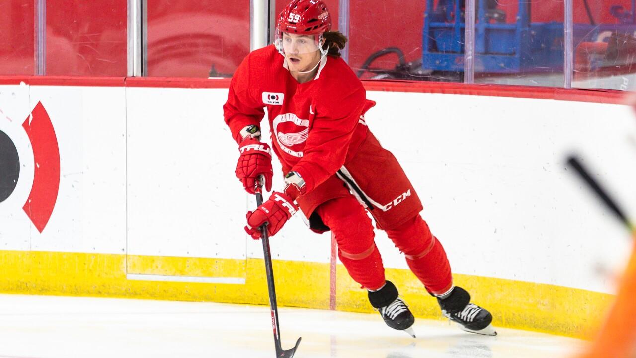 Tyler Bertuzzi 2020-2021 Detroit Red Wings Training Camp - Day One