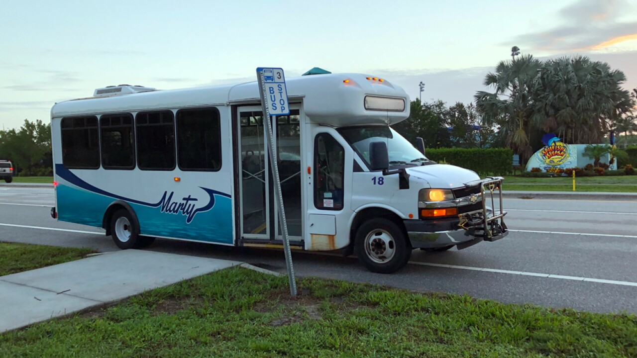 "Martin County's Public Transit program ""Marty"""