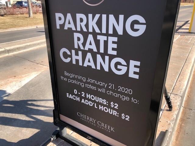 New Cherry Creek parking rates