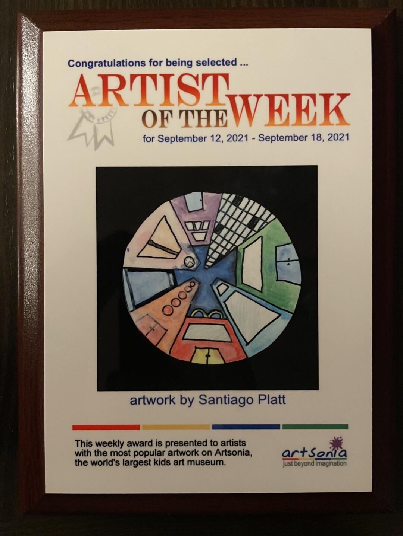 Santiago Platt is the Ansonia Artist of the Week