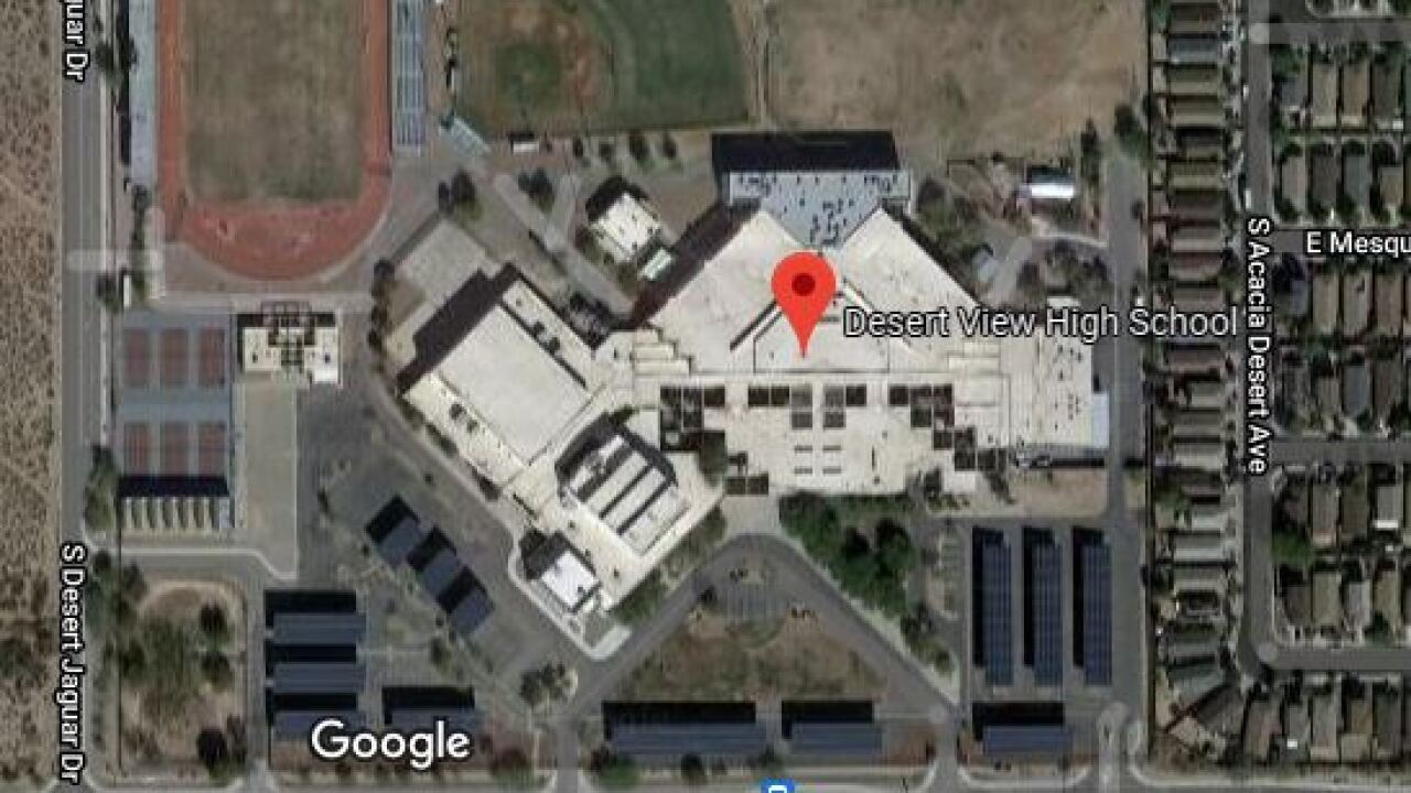 Tucson police investigated a threat at Desert View High School Thursday.