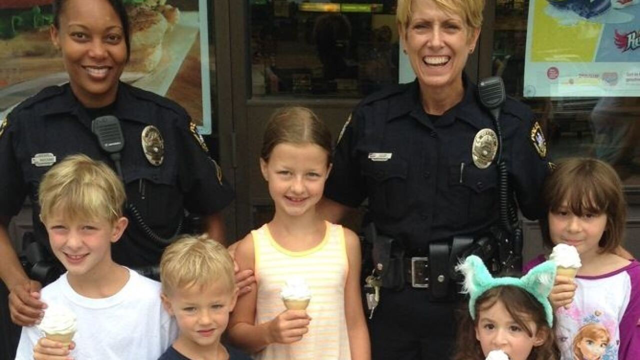 James City Co. police invite families to 'Ice Cream With a Cop'