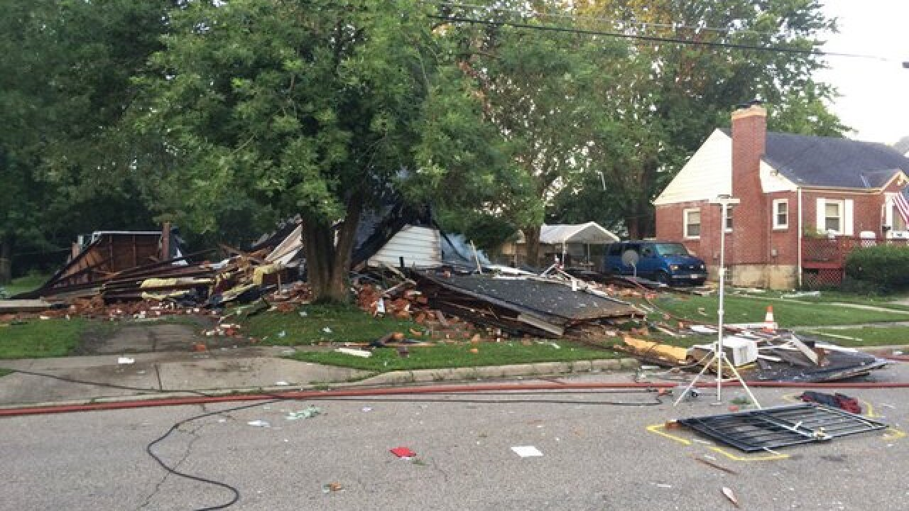 North College Hill home leveled by explosion
