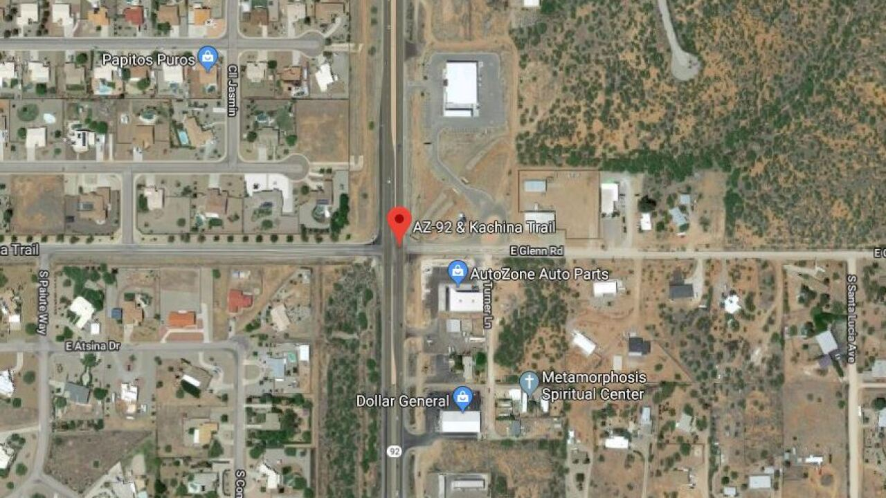 A 53-year-old woman died Monday night after she was hit by a car while she was riding a bicycle in Sierra Vista.