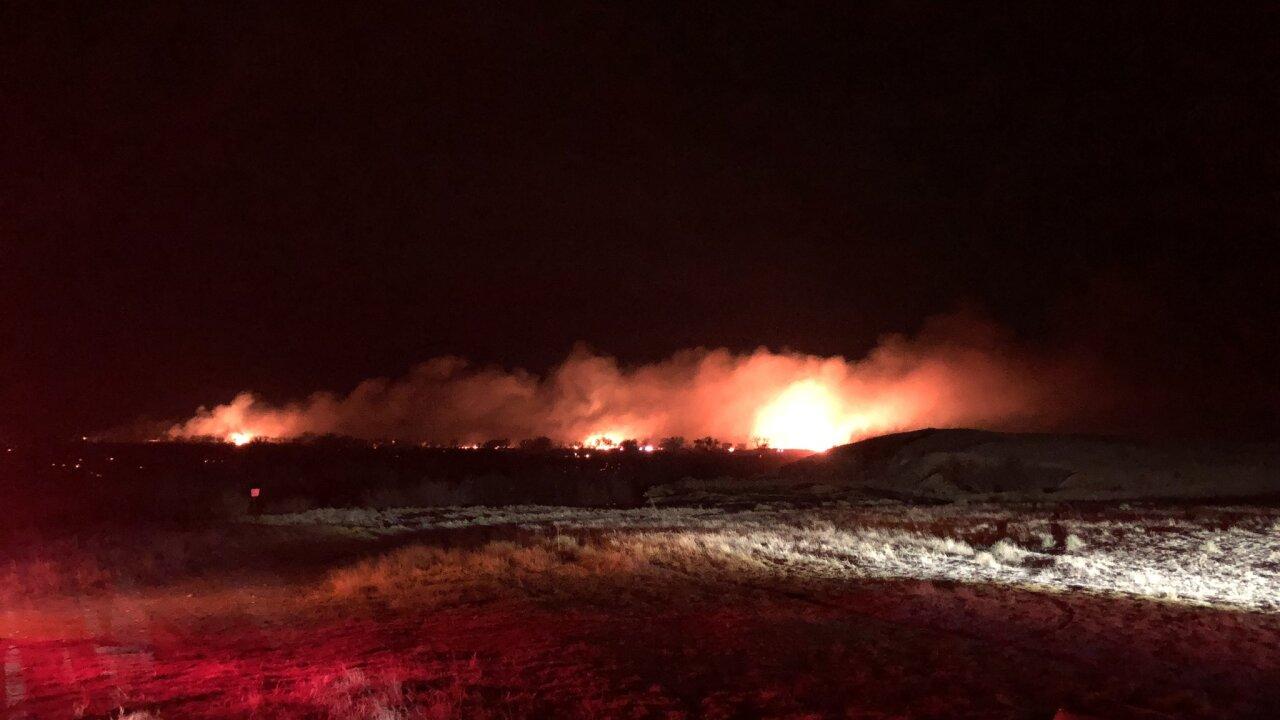 John Martin Reservoir fire