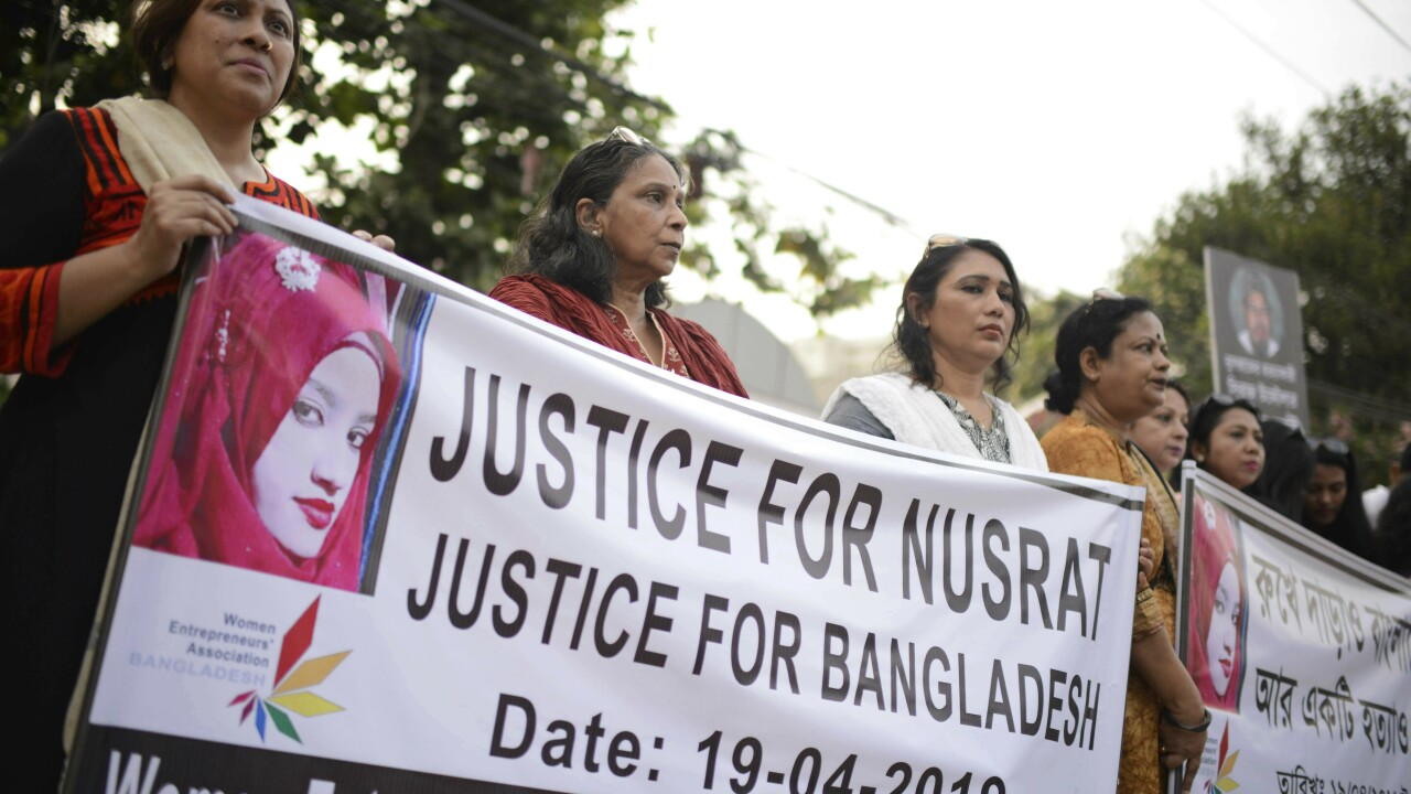 Nusrat Jahan Rafi: 16 sentenced to death for Bangladesh student's murder