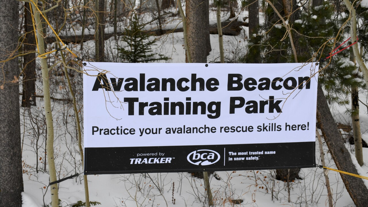avalanche beacon training park