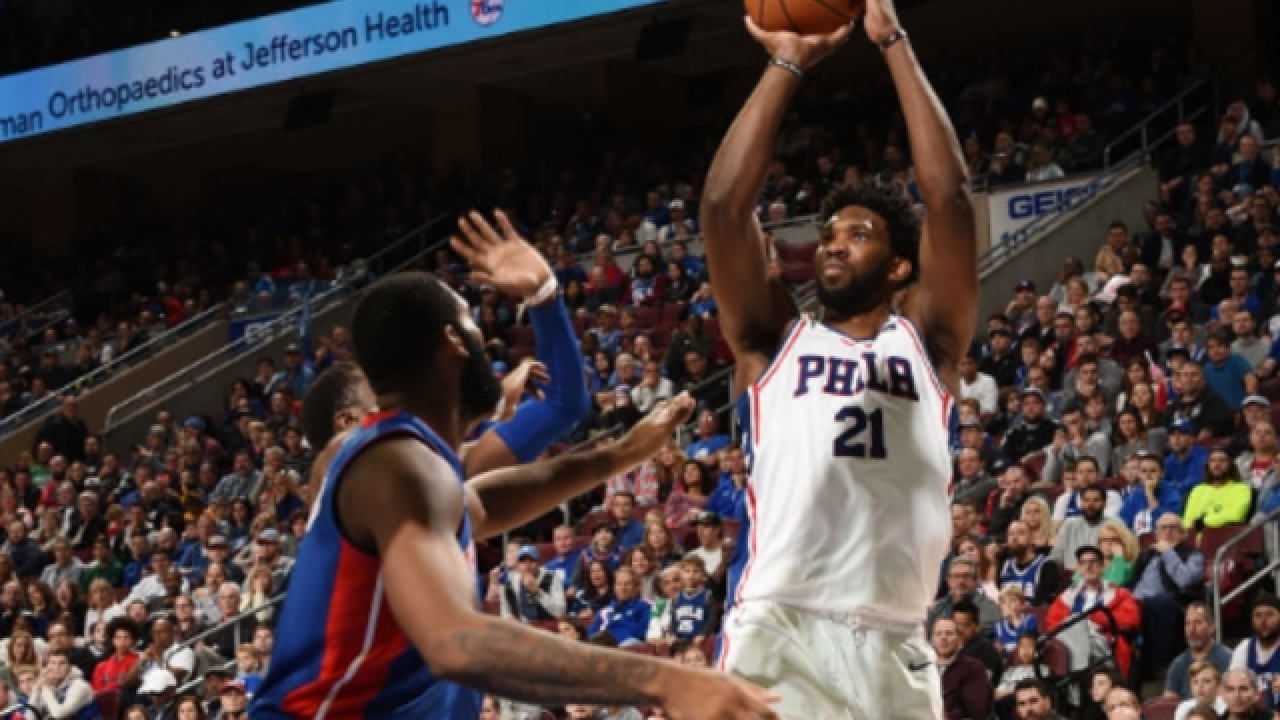 Joel Embiid scores 39 points in Philadelphia's win over Detroit