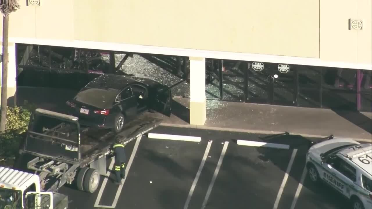 car that crashed into Planet Fitness in Royal Palm Beach