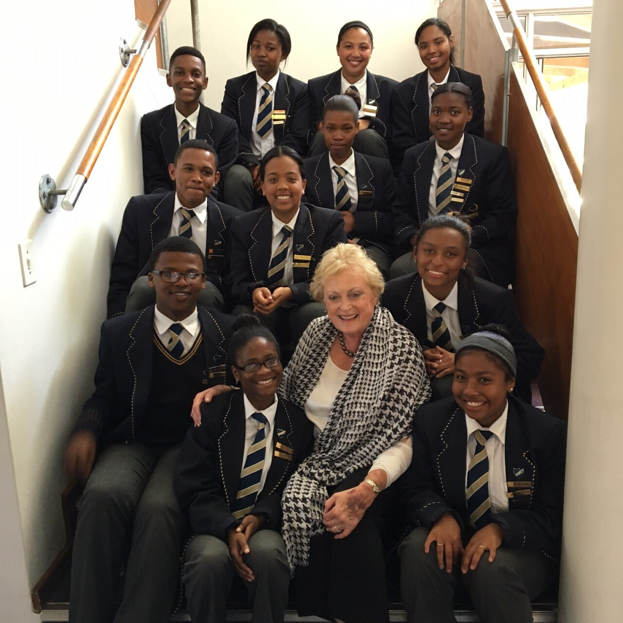 Christel and students from South Africa.jpg