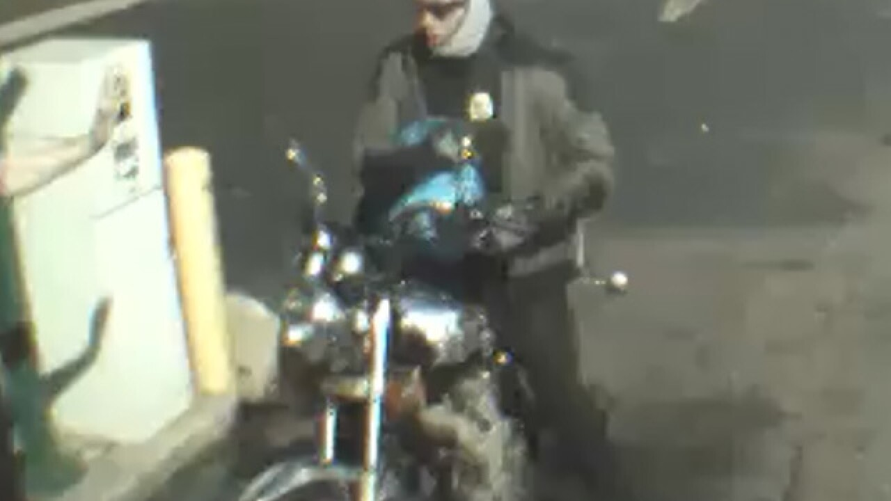 Have you seen this man? He pulled up on a motorcycle and robbed a Brinks employee filling an ATM