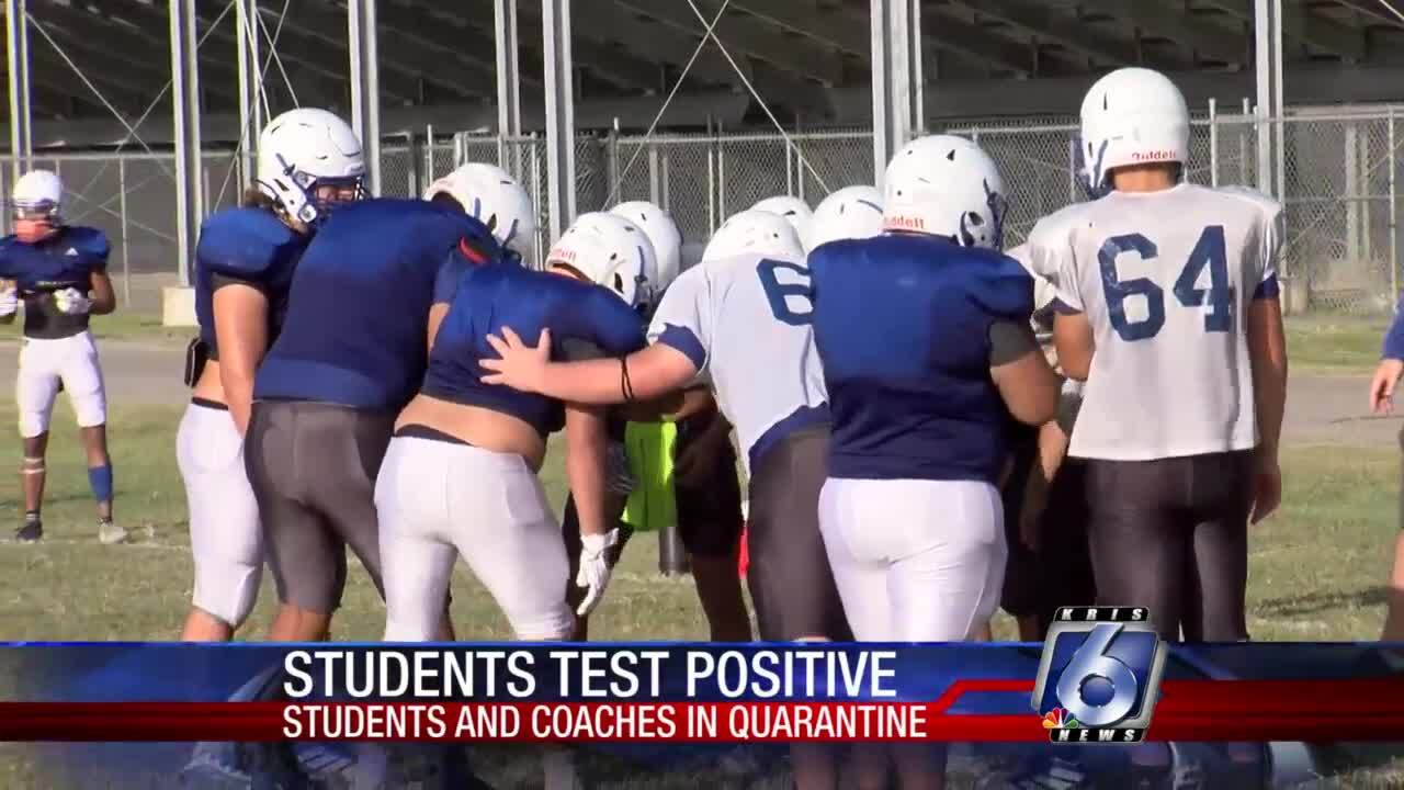 Ingleside ISD continues practices after two players diagnosed with COVID