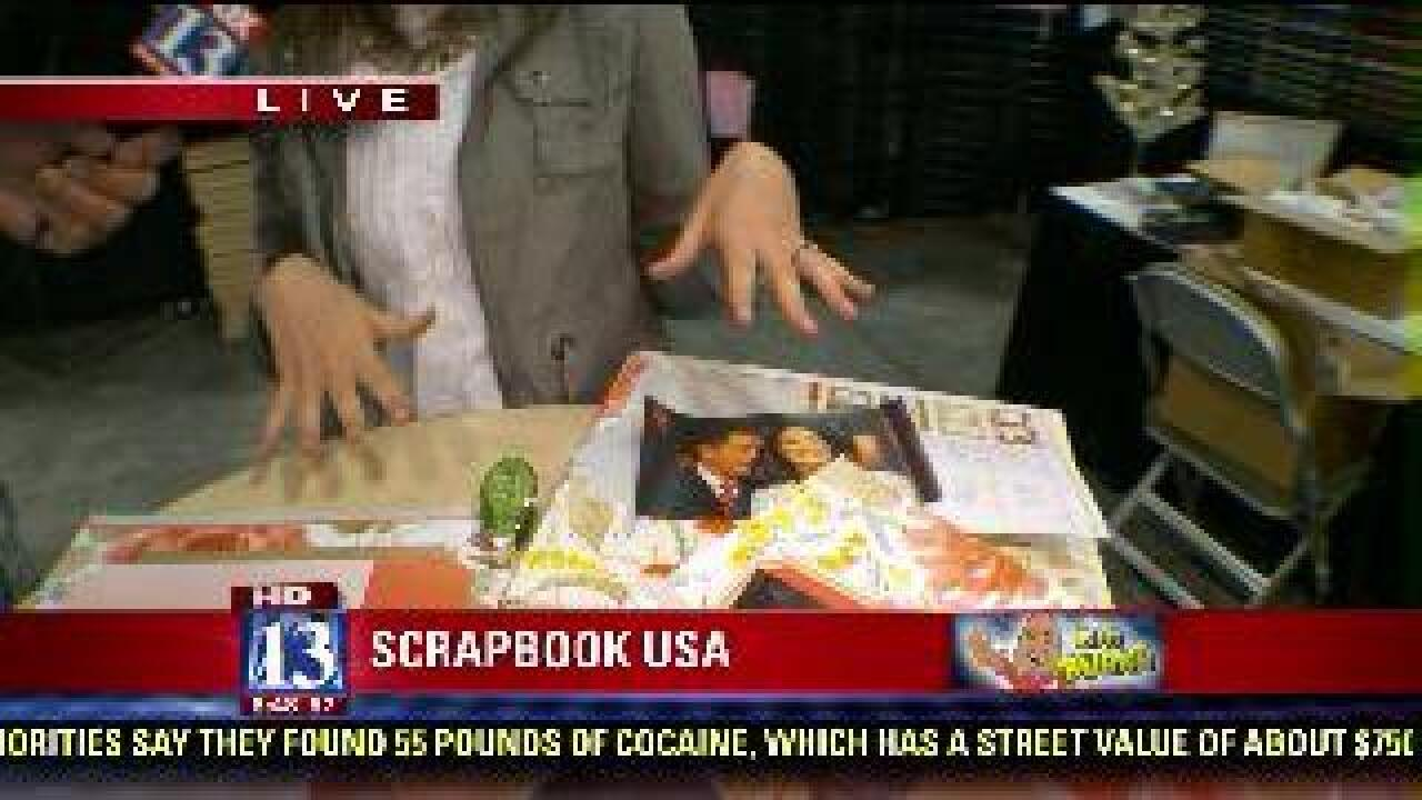 Monthly scrapbook kit delivered to home
