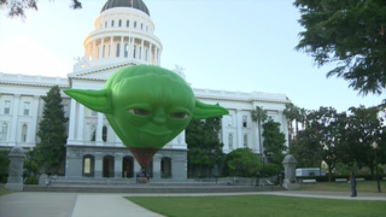 May 4 is officially 'Star Wars Day' in California. How did they celebrate? With a giant Yoda of course