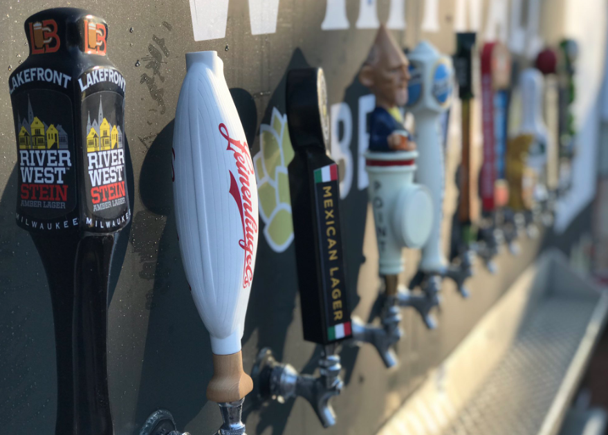 Beer taps at Whitnall Park