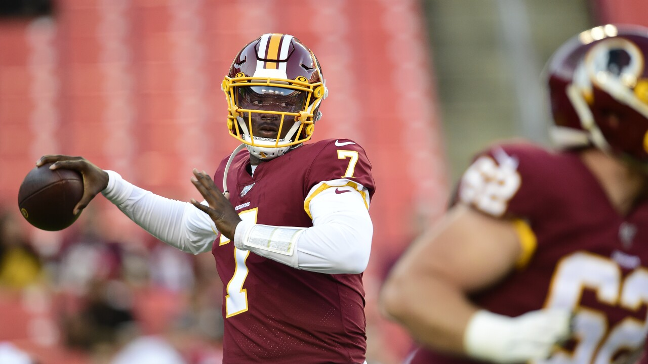 Rookie QB Dwayne Haskins starts, Redskins stopped by Ravens in 2019 preseason finale