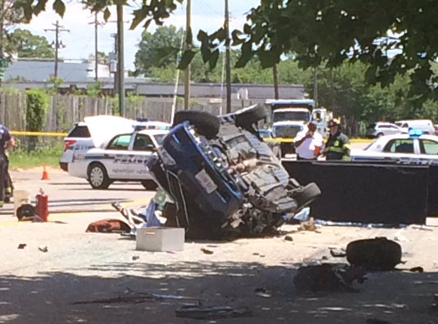 Photos: One dead, two in critical condition after Newport Newscrash