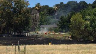 UPDATE: Fire along Highway 101 north of Santa Margarita burns 1 acre