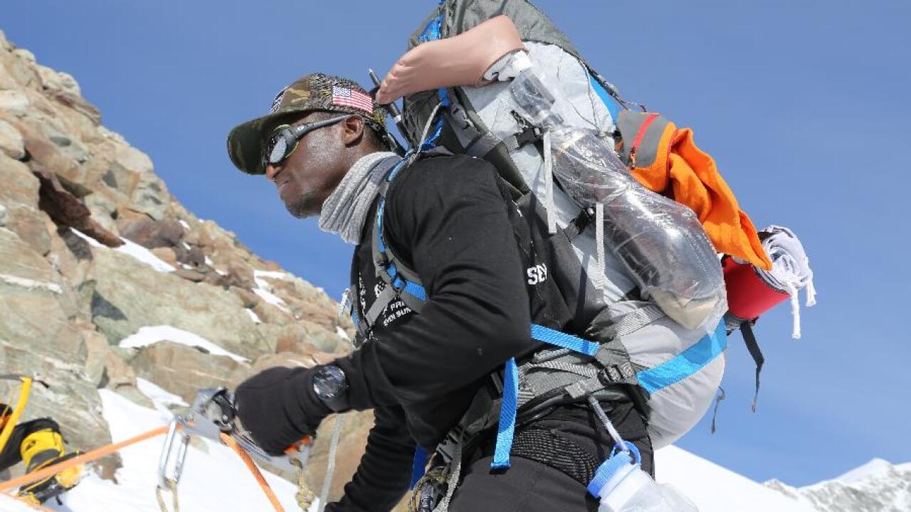 Kionte Storey climbs Mt. Vinson