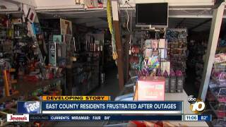 East County residents frustrated after outages