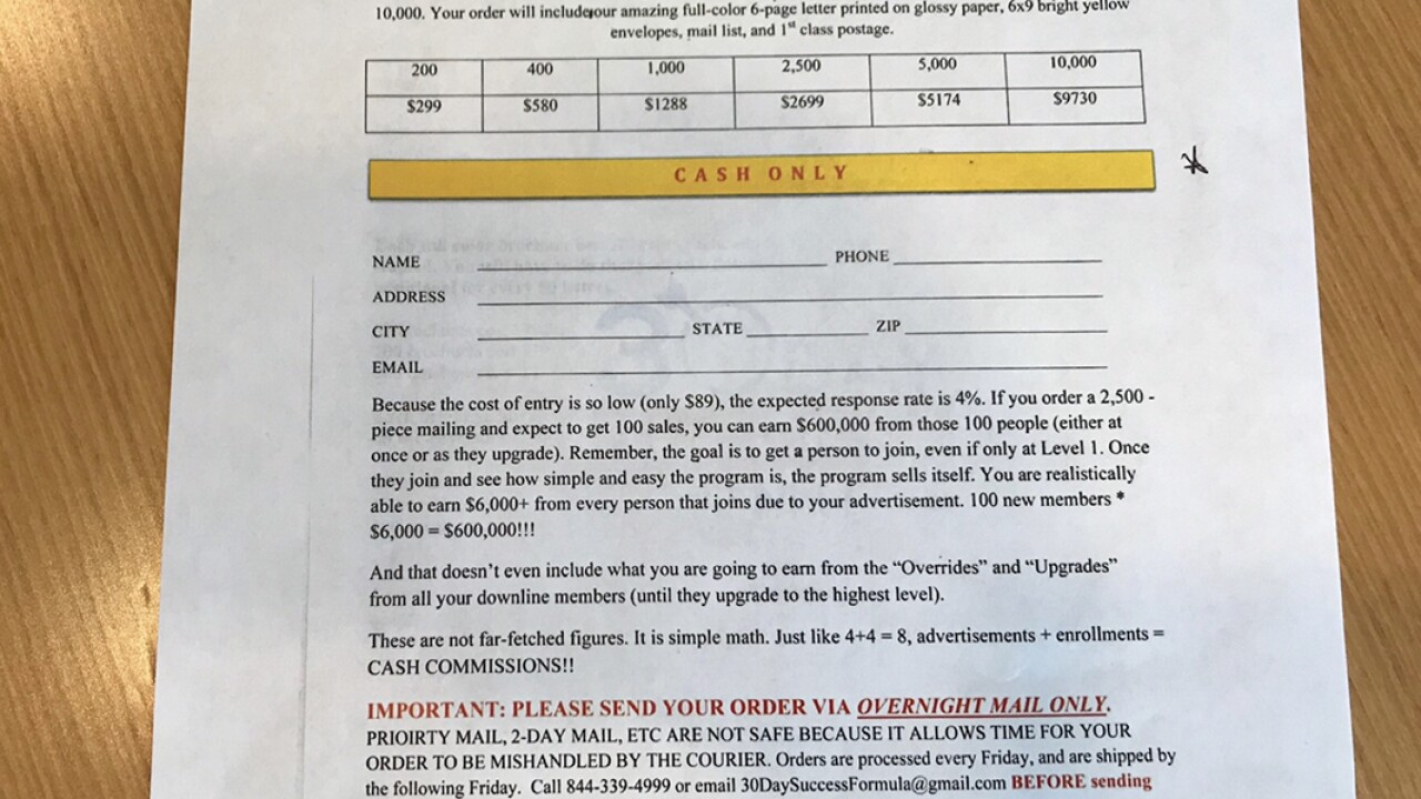 Wisconsin BBB says consumers are out at least $150,000 due to fraudulent pyramid scheme