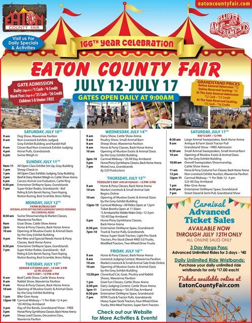 2021 Eaton County Fair activities