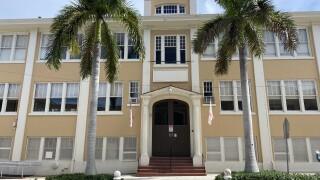 St. Ann Catholic School facade, July 23, 2020