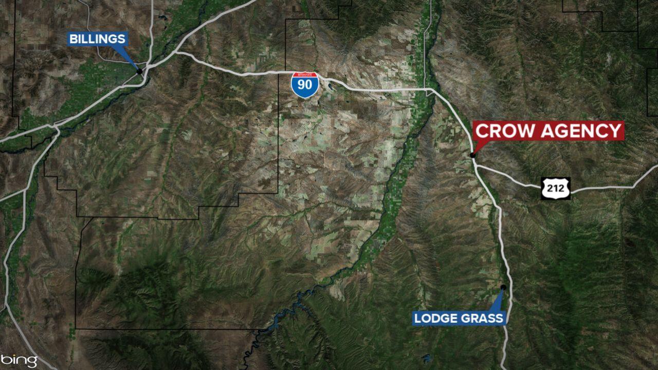 Crow Agency Montana map