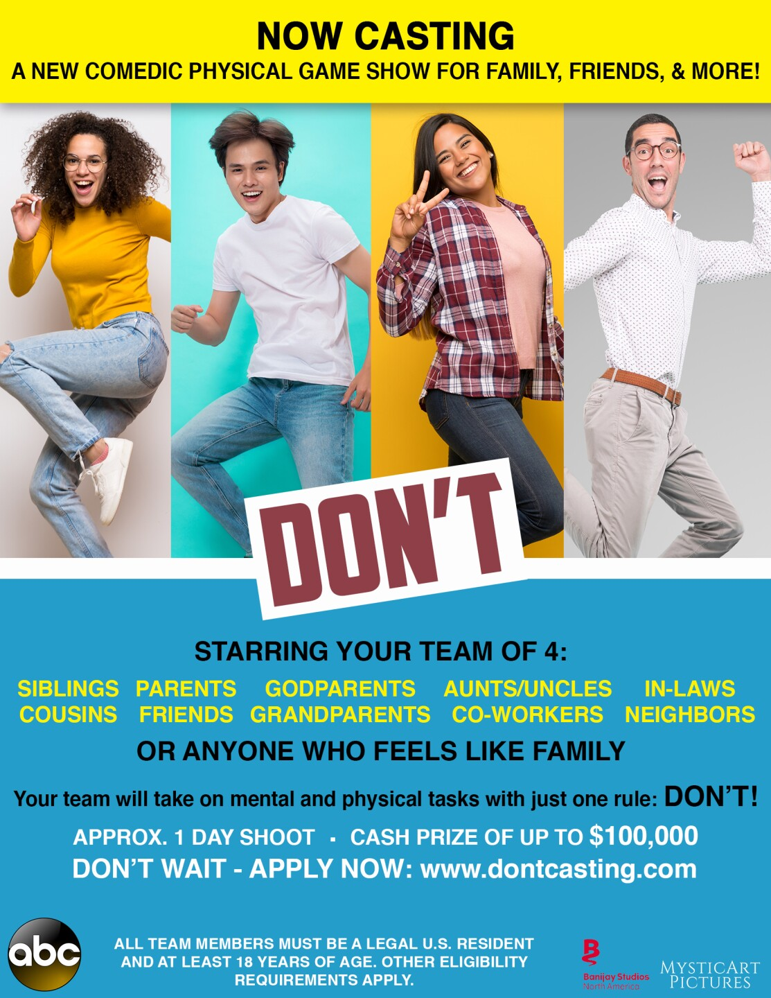 Nationwide Talent Search Underway for Series Premiere of ABC's 'Don't'